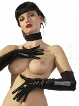 Guanti Lunghi Nero Latex