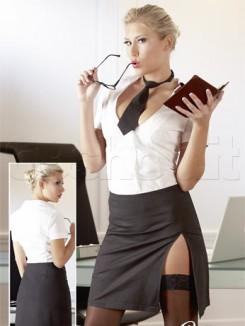 Set da Segretaria Sexy Bianco Nero