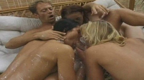 Rocco ravages 2 party crashing sluts