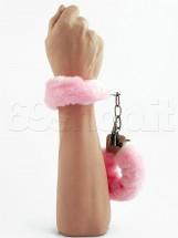 Manette Peluche Love Cuffs Rosa