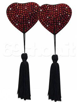 Copricapezzoli Cuore Nero Rosso